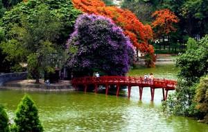 Hà Nội đẹp ngỡ ngàng như tranh mùa cây thay màu lá