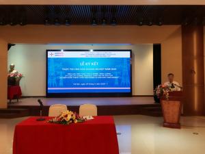 Lễ tổ chức ký cam kết thực thi VHDN giữa Trưởng các đơn vị với Lãnh đạo Công ty TNHH MTV Khách sạn Du lịch và Dịch vụ thương mại Điện lực.